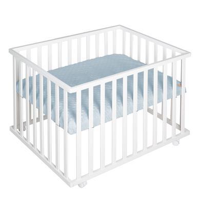 Laufgitter - roba Laufgitter 75 x 100 cm weiß Style türkis  - Onlineshop Babymarkt