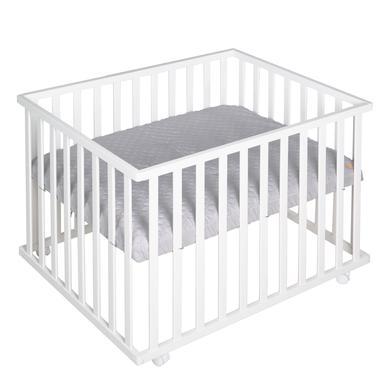 Laufgitter - roba Laufgitter 75 x 100 cm weiß Style grau  - Onlineshop Babymarkt