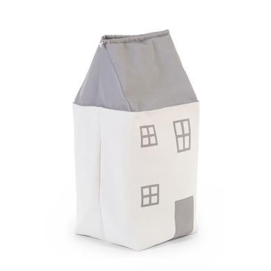 CHILDHOME Spielzeugtasche Haus grau-ecru
