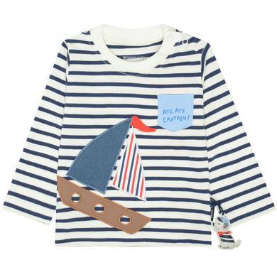 Babyoberteile - Staccato Boys Langarmshirt marine gestreift – blau – Gr.Babymode (6 – 24 Monate) – Jungen - Onlineshop Babymarkt