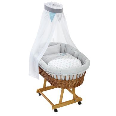 Stubenwagen und Wiegen - Alvi® Komplettstubenwagen Birthe natur, Raindrops  - Onlineshop Babymarkt