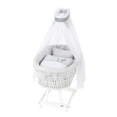 Stubenwagen und Wiegen - Alvi® Komplettstubenwagen Birthe weiß, Raindrops  - Onlineshop Babymarkt