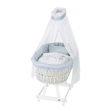 Stubenwagen und Wiegen - Alvi® Komplettstubenwagen Birthe weiß, Tipi Bear  - Onlineshop Babymarkt