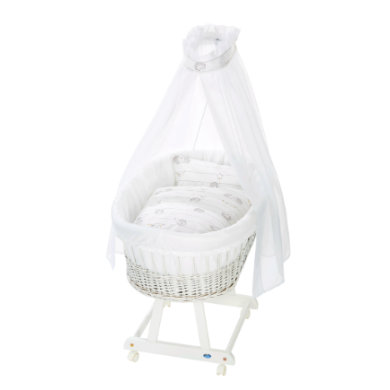 Stubenwagen und Wiegen - Alvi® Komplettstubenwagen Birthe weiß, Stachelfreunde  - Onlineshop Babymarkt