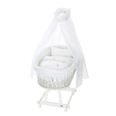 Alvi ® Complete Birth bassinet e white Flamingo