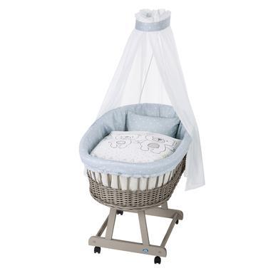Stubenwagen und Wiegen - Alvi® Komplettstubenwagen Birthe taupe, Tipi Bear  - Onlineshop Babymarkt
