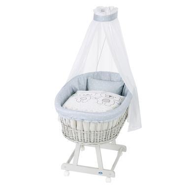 Stubenwagen und Wiegen - Alvi® Komplettstubenwagen Birthe silbergrau, Tipi Bear  - Onlineshop Babymarkt