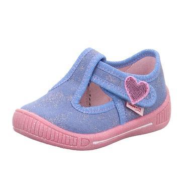 Babyschuhe - superfit Girls Hausschuh Bully hellblau – Gr.Babymode (6 – 24 Monate) – Mädchen - Onlineshop Babymarkt