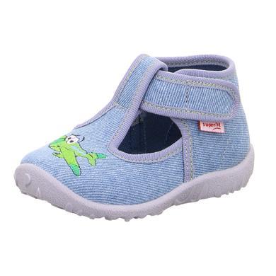 Babyschuhe - superfit Boys Hausschuh Spotty hellblau – Gr.Babymode (6 – 24 Monate) – Jungen - Onlineshop Babymarkt