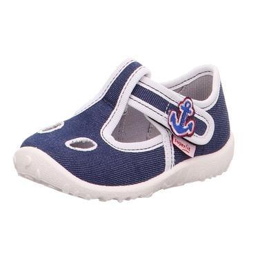 Babyschuhe - superfit Boys Hausschuh Spotty blau – Gr.Babymode (6 – 24 Monate) – Jungen - Onlineshop Babymarkt