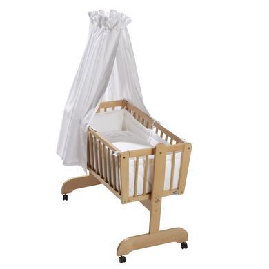 Stubenwagen und Wiegen - Alvi® Komplettpendelwiege Sina Buche Bär auf Schaukel  - Onlineshop Babymarkt