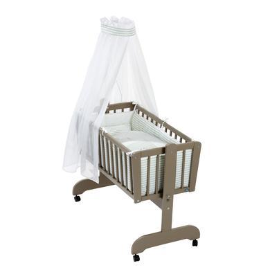 Stubenwagen und Wiegen - Alvi® Komplettpendelwiege Sina taupe, Farm  - Onlineshop Babymarkt