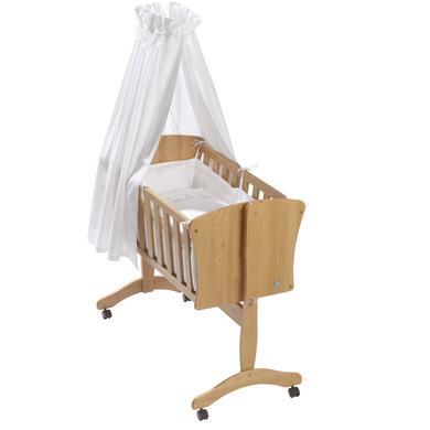 Stubenwagen und Wiegen - Alvi® Komplettpendelwiege Pia Buche Bär auf Schaukel  - Onlineshop Babymarkt