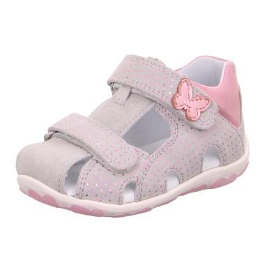 Babyschuhe - superfit Girls Sandale Fanni hellgrau rosa (mittel) – Gr.Babymode (6 – 24 Monate) – Mädchen - Onlineshop Babymarkt