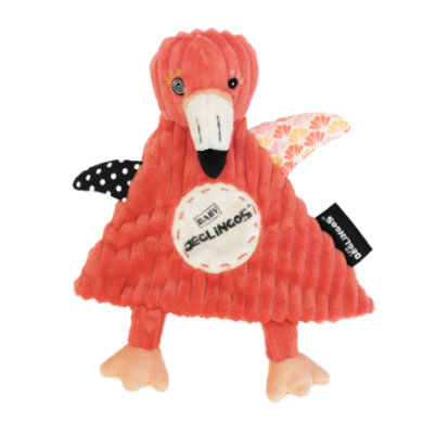 LES DEGLINGOS ® Cuddle cloth Flamingos of Flamingo