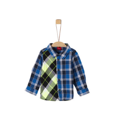 s. Olive r Shirt blue check