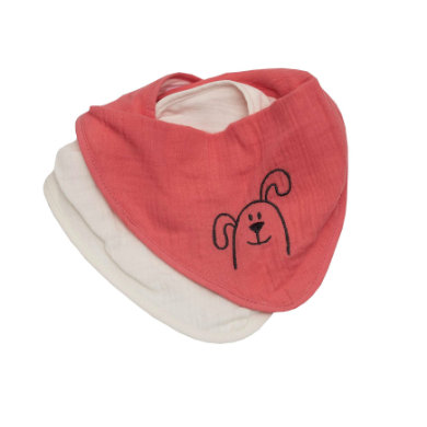 Be Bes Collection Muslin Drool Bib 2-packový losos pro psy