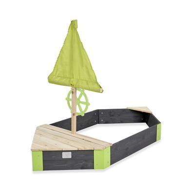 Spielhäuser und Sandkästen - EXIT Holzsandkasten Boot Aksent, 190 x 90 cm  - Onlineshop Babymarkt