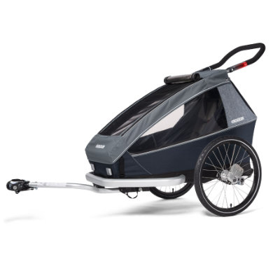 CROOZER KID FOR 1 PLUS Vaaya GRAPHITE BLUE 2020 2v1 odpružený vozík za kolo