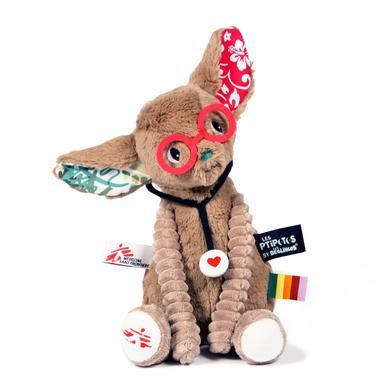 LES DEGLINGOS Tamalou plyšová hračka Fennek lékaři bez hranic