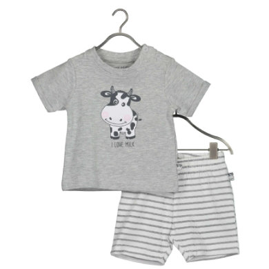 BLUE SEVEN Baby 2-dílná sada Milk Shirt  Medium Shorts grey