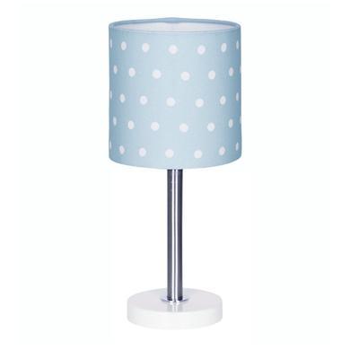 Kinderzimmerlampen - LIVONE Tischlampe Happy Style for Kids DOTS blau weiss  - Onlineshop Babymarkt