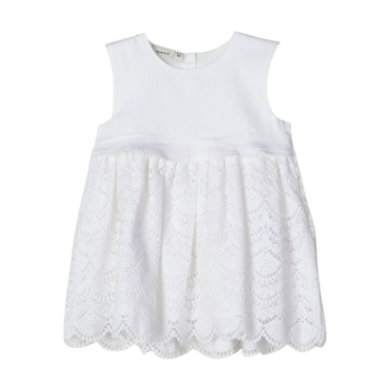 Minigirlroeckekleider - name it Girls Kleid Nbfdania bright white - Onlineshop Babymarkt