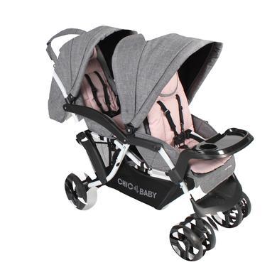 CHIC 4 BABY Duowagen DOPPIO Melange roze
