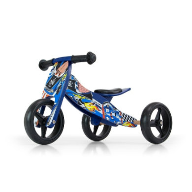 Laufrad - Milly Mally 2in1 Laufrad Jake blue cars - Onlineshop
