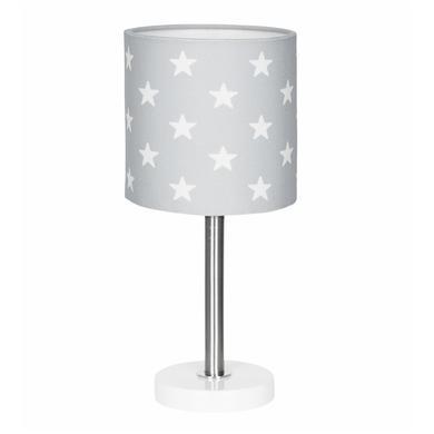 LIVONE Stolní lampa Happy Style pro děti STARS stříbrná šedá / bílá
