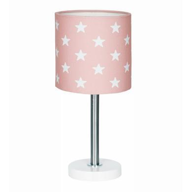 Kinderzimmerlampen - LIVONE Tischlampe Happy Style for Kids STARS rosa weiss  - Onlineshop Babymarkt
