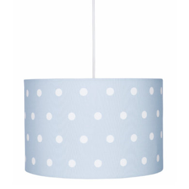 Kinderzimmerlampen - LIVONE Hängelampe Happy Style for Kids DOTS blau weiss  - Onlineshop Babymarkt
