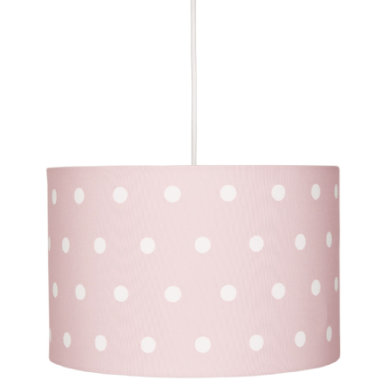Kinderzimmerlampen - LIVONE Hängelampe Happy Style for Kids DOTS rosa weiss  - Onlineshop Babymarkt