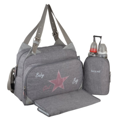 Image of BABY ON BOARD Wickeltasche Titou Babygirl Grau