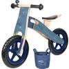 small foot® Løbecykel blå papirplan