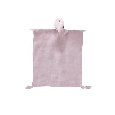 Kids Concept® Kuscheltuch Dino Leinen 24x26 cm, rosa
