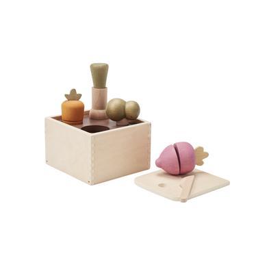 Kids Concept® Jeu de tri de formes légumes du jardin bois 15x13 cm