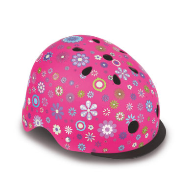 Globber Helm Elite Lights Pink Flowers