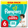Pampers Baby-Dry Nappy Pants, Gr. 6, 15kg+, 88 pezzi, Giga Pack