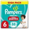 Pampers Baby-Dry pañales para bebés Gr. 6 Extra Large 88 pañales 15+ kg