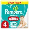 Pampers Baby-Dry Höschenwindeln 4, 112Windeln, 9kg-15kg