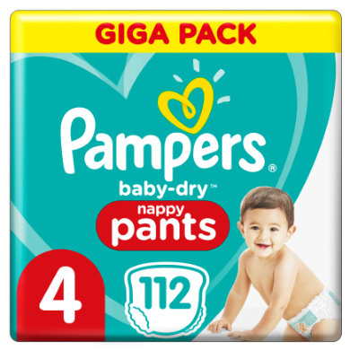 Image of Pampers Baby Dry Pants Gr. 4 Maxi 112 luiers 9 - 15 kg Giga Pack