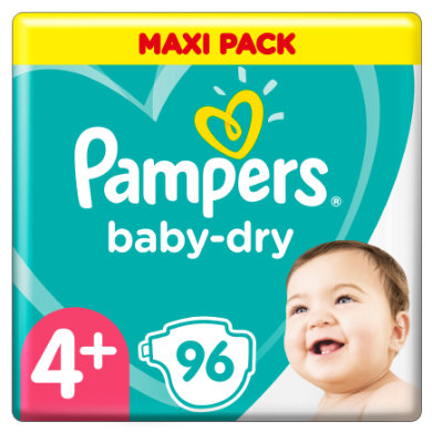 Pampers plenky Baby Dry vel. 4 96 plenek10-15 kg