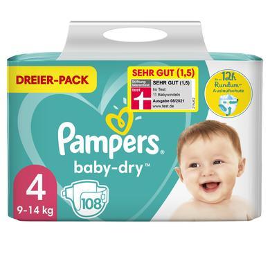 Image of Pampers Luiers Baby Dry Maat 4 Maxi 108 Luiers 9 tot 14 kg Voordeelpak