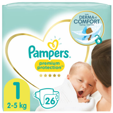 Image of Pampers Premium Protection Maat 1 New Baby Newborn 26 luiers 2 tot 5 kg