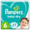 Pampers Couches Baby Dry T.6 extra large 13-18 kg 27 pièces