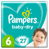 Pampers Pannolini Baby Dry Gr. 6 Extra Large 27 Pannolini da 13 a 18 kg