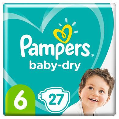 Image of Pampers Luiers Baby Dry Maat 6 Extra Large 27 Luier 13+ kg Maandbox