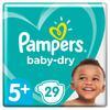Pampers Baby-Dry Größe 5+, 29 Windeln, bis zu 12Stunden Rundumschutz, 12-17kg