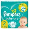 Pampers Baby-Dry Größe 2, 37 Windeln, bis zu 12Stunden Rundumschutz, 4-8kg